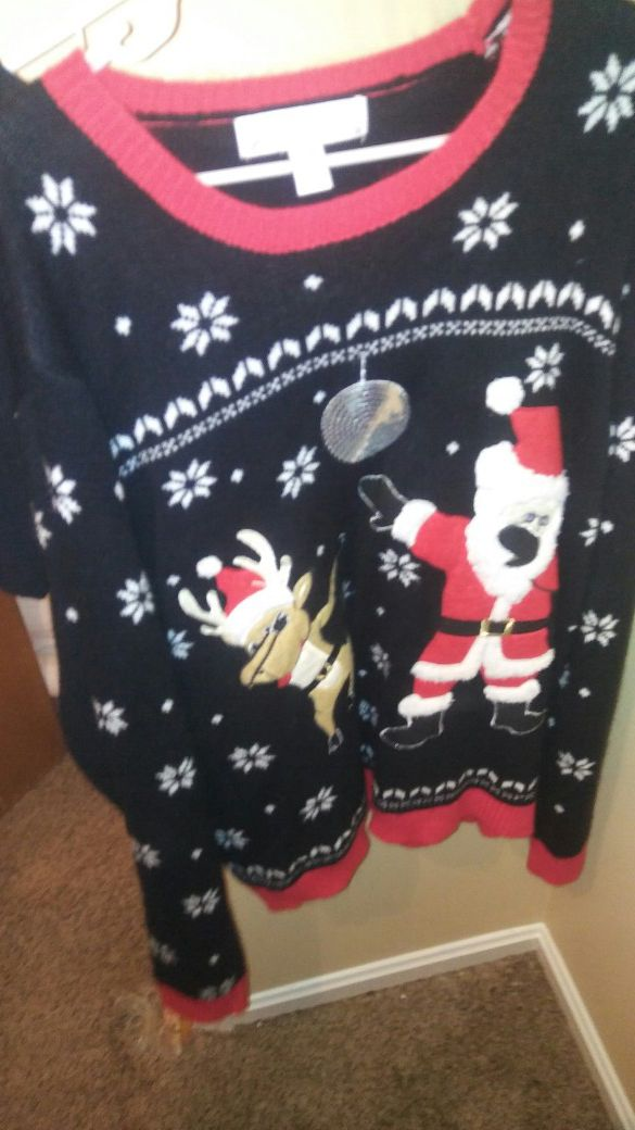 3x Ugly Christmas Sweater.Ugly Christmas Sweater Dabbing Santa And Rudolph 3x Unisex For Sale In Cincinnati Oh Offerup