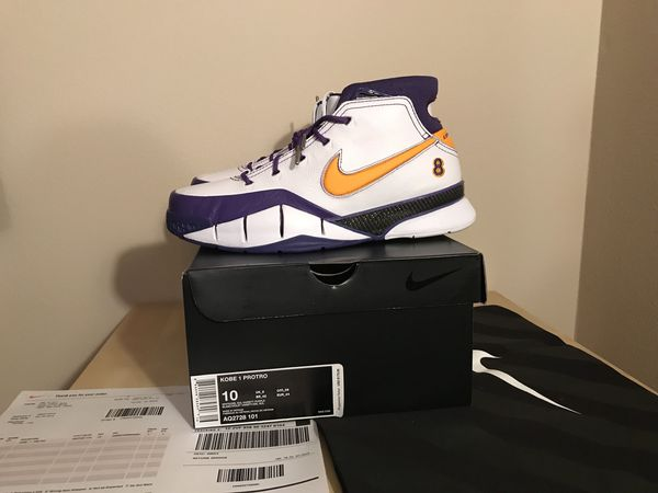 factory authentic 51579 efedf Nike Kobe proto 1 final second ds size 10 with Receipt and black nike bag