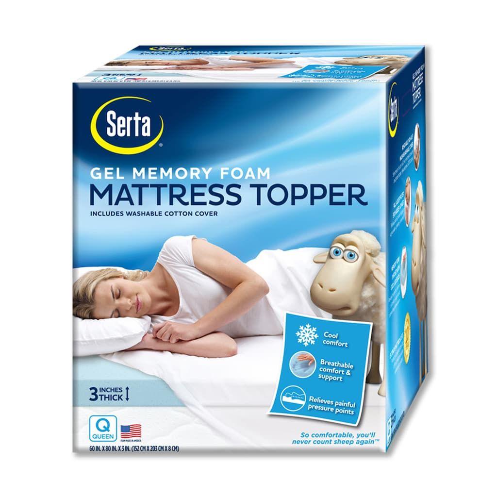 Serta Gel Memory Foam Mattress Topper