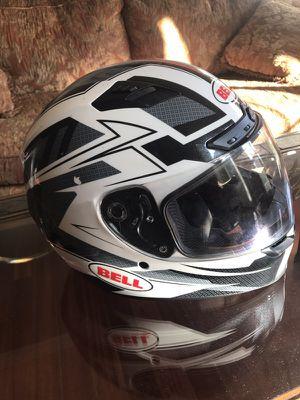 Motor bike Helmet black & white for Sale in Manassas, VA