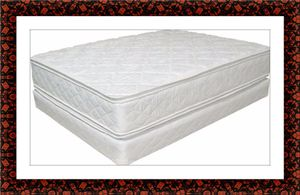 Full plush pillowtop mattress and full box for Sale in Fairfax, VA