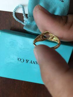 Tiffany & Co Open Heart 18k RING Thumbnail
