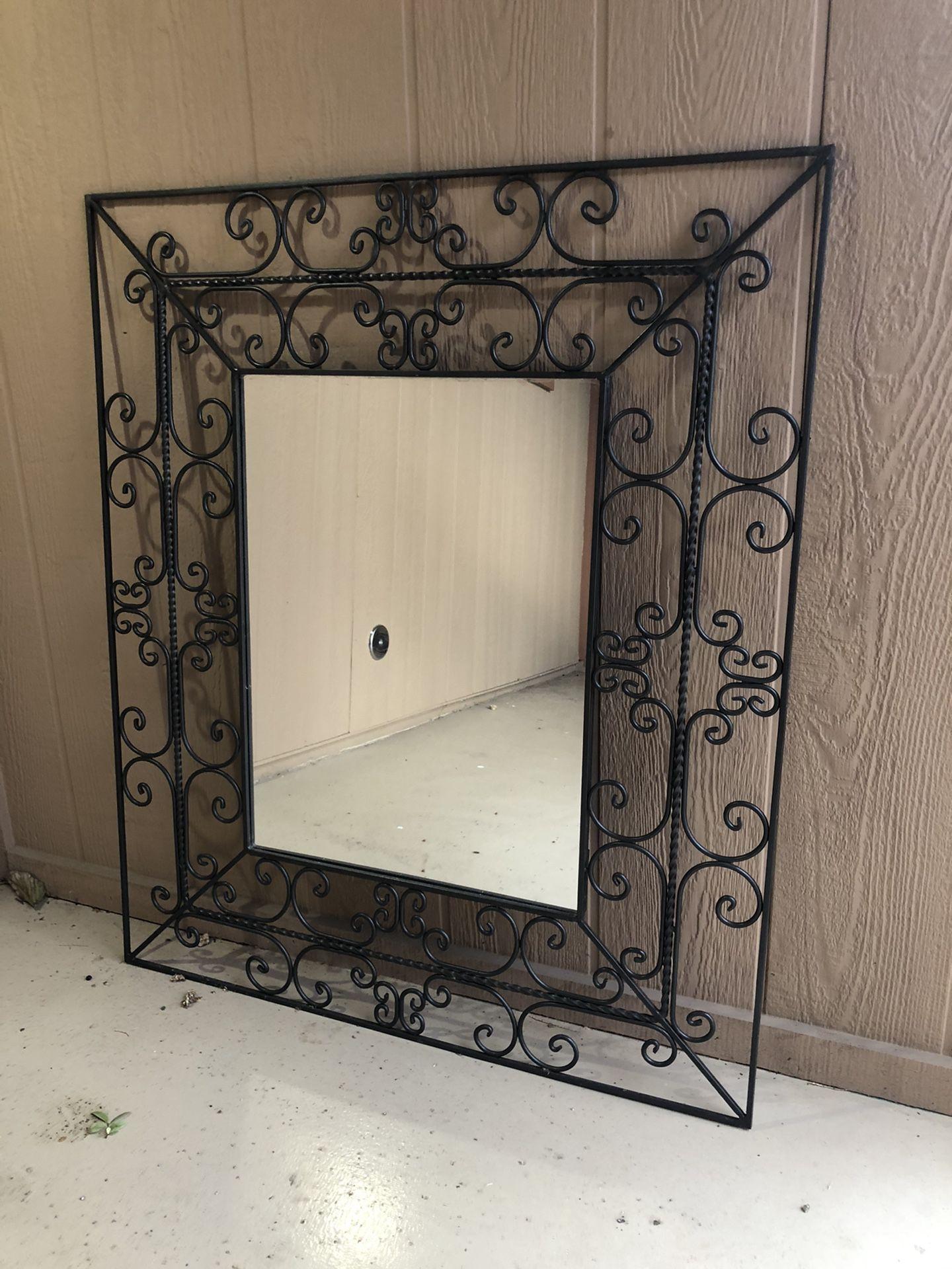 Beautiful rod iron mirror