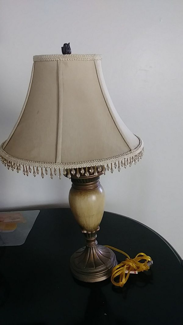 Brown Beige Lamp With Shade Works Good