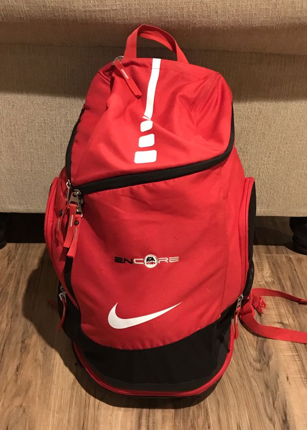39237a32fe14 Nike Air Max Elite Hoops Basketball Backpack 2.0 Red and Black for ...