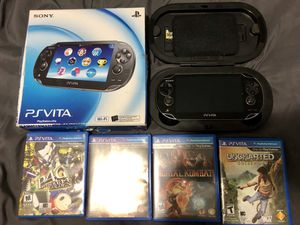 Sony Playstation PS Vita OLED PCH-1001 w/ Case And 4 Games ULTIMATE BUNDLE MINT for Sale in Alexandria, VA