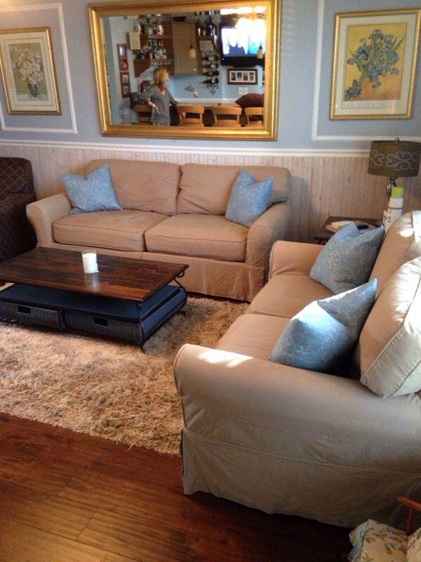 Cindy Crawford Beachside Slipcover Sofa Loveseat