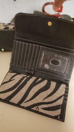 Set of black and tan purse and wallet Thumbnail