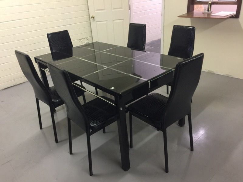 Cristal dining table 7 piece