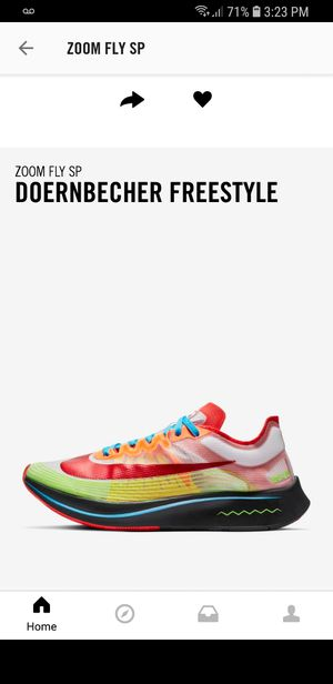 DB NIKE ZOOM FLY DS SIZE 9.5 for Sale in Germantown, MD