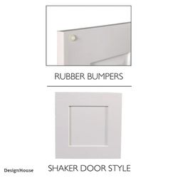 Brookings Plywood Assembled Shaker 12x36x12 in. 1-Door Wall Kitchen Cabinet in Espresso, Design House Thumbnail