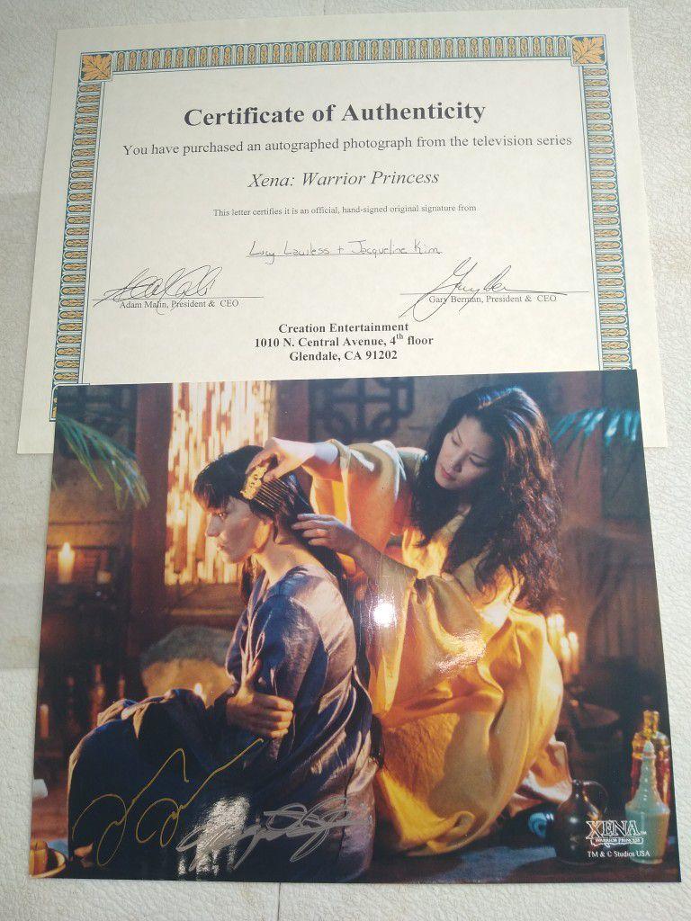 Xena TV Show Autographed Photos