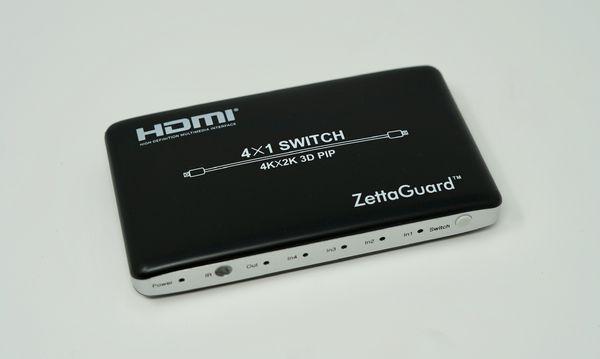 Zettaguard 4K x 2K 4 Port 4 x 1 HDMI Switch with PIP and IR
