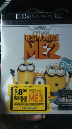 Despicable Me 2 4k for Sale in Dallas, TX