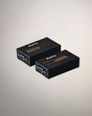 VGA Extender, MACTIS VGA to RJ45 Adapter Converter over Cat5 Cat6 Ethnernet Cable (65ft/20m, VGA Male + Female to RJ45) for Sale in Orange, VT