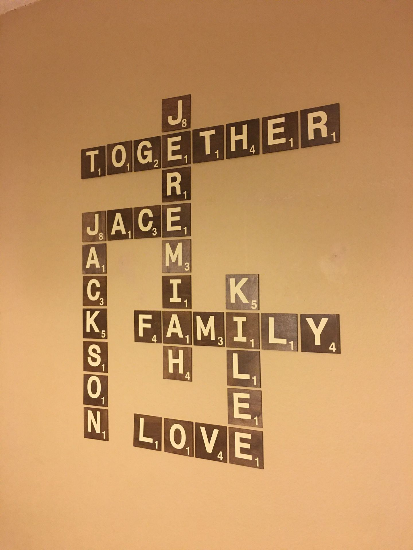 Scrabble wall art decor