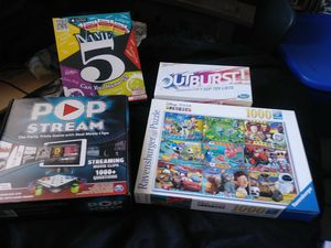 3 games and a puzzle for Sale in Los Angeles, CA
