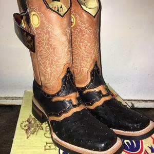 62688470e60 El General Square Toe Ostrich Boots for Sale in Stockton, CA - OfferUp