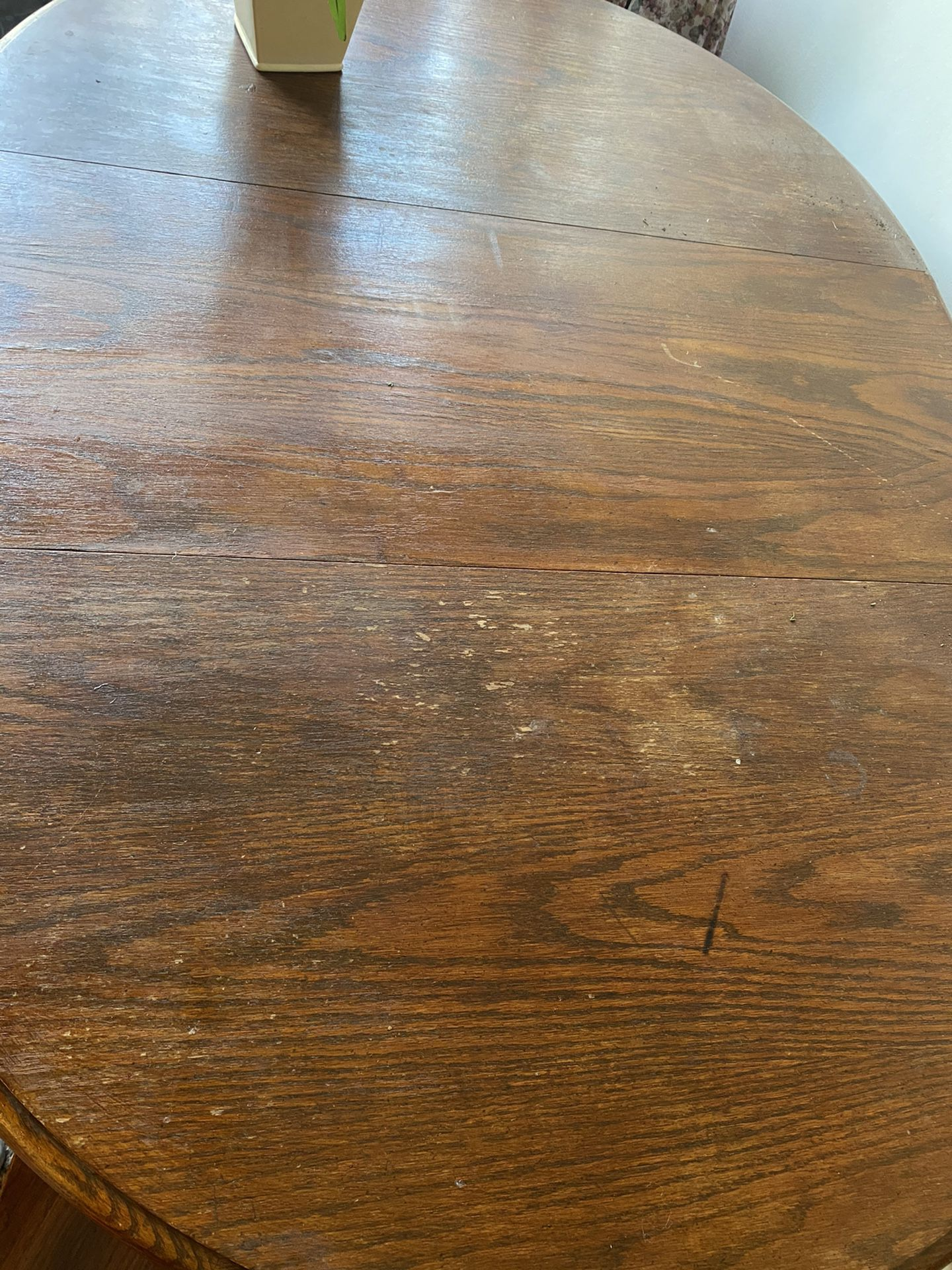 Solid Wood Dining Table With Leaf