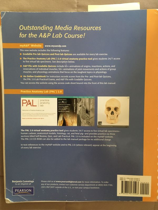 Anatomy and physiology lab textbook second edition for Sale in ...