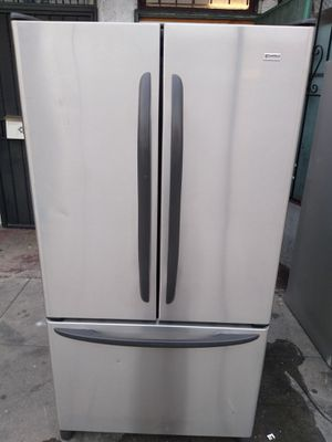 Photo REFRIGERATOR KENMORE ELITE STAINLESS STEEL EXTREMELY CLEAN WORK AMAZING