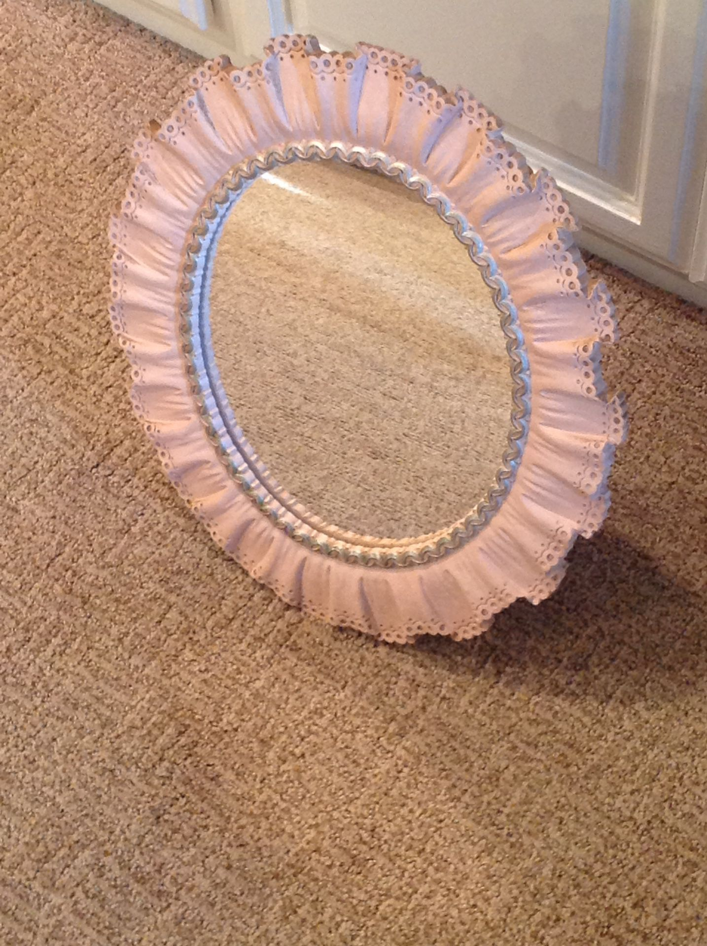 VINTAGE PINK MIRROR BY SYROCO