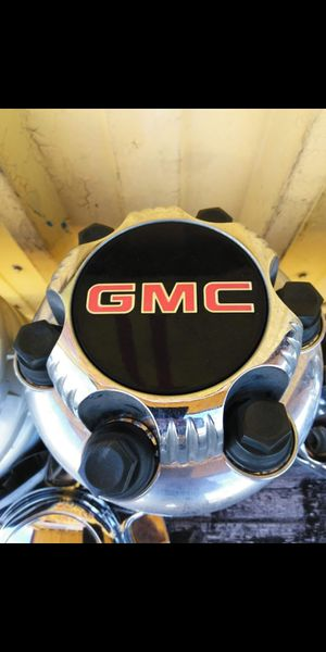 4 Gmc oem factory 6 lug chrome center caps part number #c5129c for Sale in Lakeland, FL
