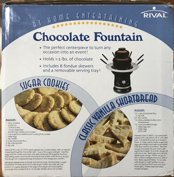 Rival Chocolate Fountain Model Cff4 20 Firm For Sale In Miami