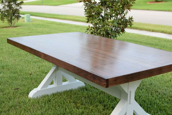 Handmade Walnut dining room table for Sale in Port St. Lucie, FL ...