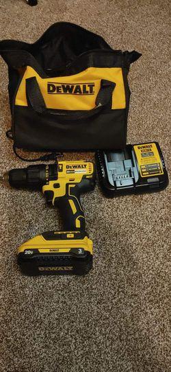 DeWalt  Hammer Drill Driver -kit  20v 3AMPH🔋+ Charger + Tool Bag Thumbnail