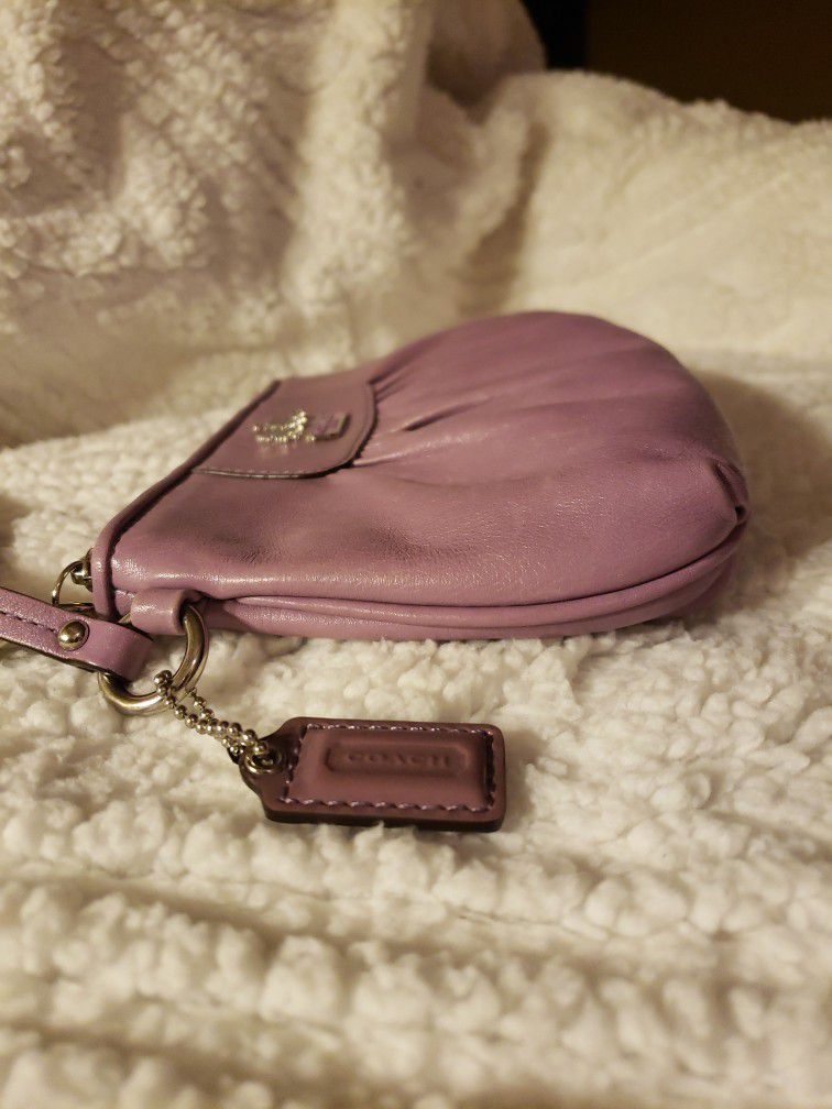 COACH Leather Wristlet
