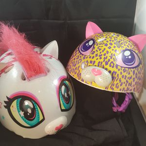 2 Super cute Raskullz bicycle helmets. Pre-owned for Sale in Chapel Hill, NC