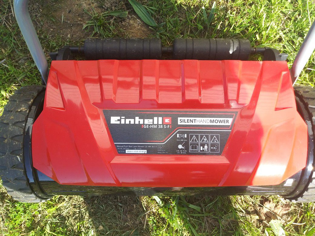 Einhell GE-HM 38 S-F Manual Deluxe 15-Inch 5-Blade High-Quality Steel Reel Mowing System Push Reel Mower