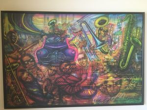 "Famed Mexican Artist Alejandro Romero Authentic Signed ""Chicago"" 1986 Print for Sale in Alexandria, VA"