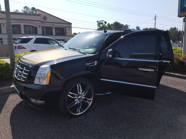 08 cadillac escalade on 26s chameleon rally stripes 11k for sale in