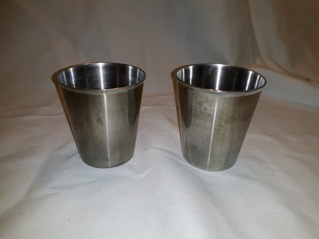 VINTAGE Vollrath 68470 Stainless steel 7oz tumbler/solution cup