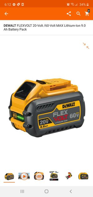 Photo DEWALT FLEXVOLT 20-Volt /60-Volt MAX Lithium-Ion 9.0 Ah Battery Pack