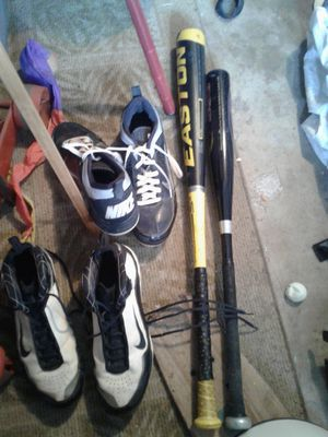 Baseball bats and Cleats , very nice conditions for Sale in San Diego, CA