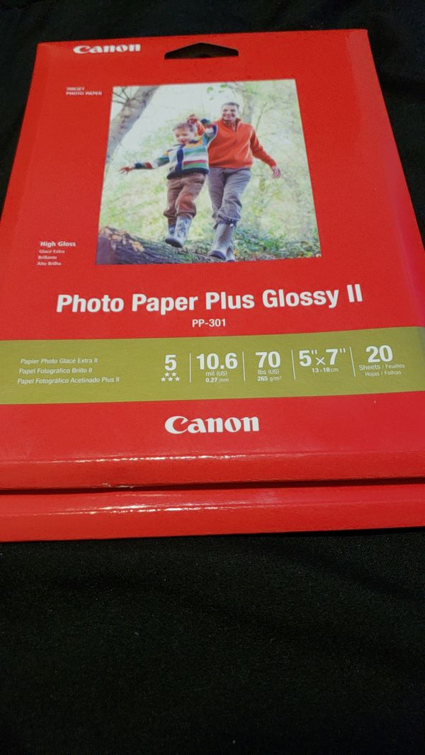 Canon Photo Paper Plus Glossy Ii 5x7 20 Sheets For Sale In Rock Hill