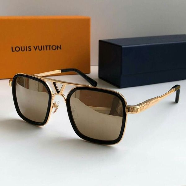 6e9a588a8ca Louis Vuitton District Gold and Brown Designer Sunglasses for Men or Women. Los  Angeles ...