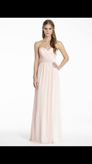 Vera Wang White Collection Champagne Color Formal Bridesmaid Dress