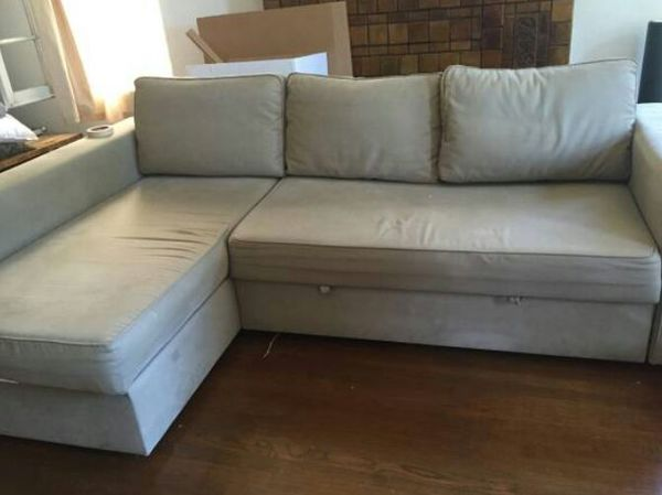 Super Ikea Manstad Sofa Bed With Chaise Memory Foam Throw Pillows For Sale In Los Angeles Ca Offerup Beutiful Home Inspiration Aditmahrainfo