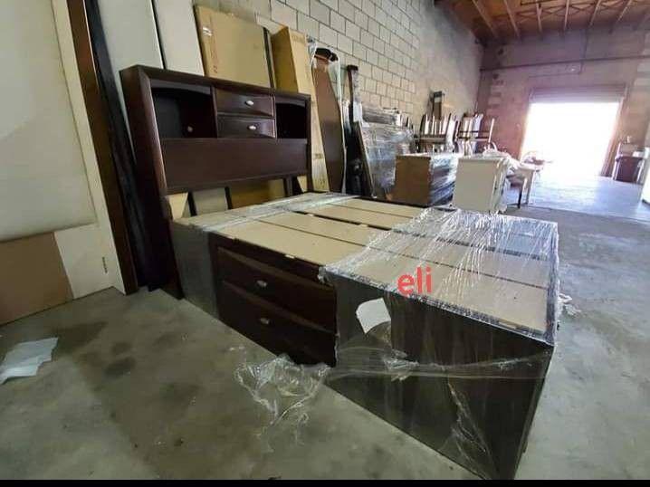 》 Emily Dark Cherry Storage Platform Bedroom Set Dresser Mirror Nightstand Bed Frame Queen