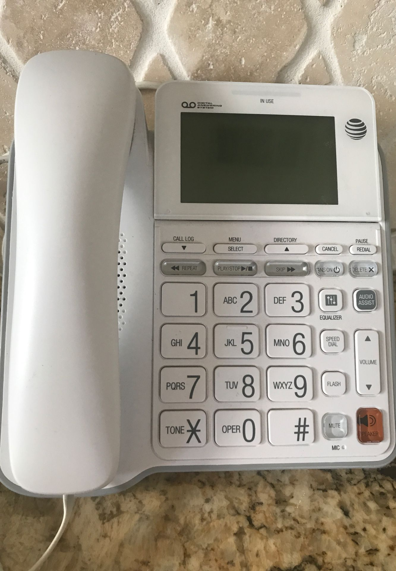 AT&T Corded Answering Phone System