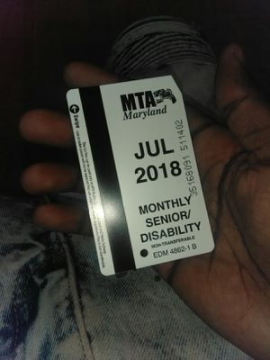 Monthly Bus Pass for Sale in Baltimore, MD