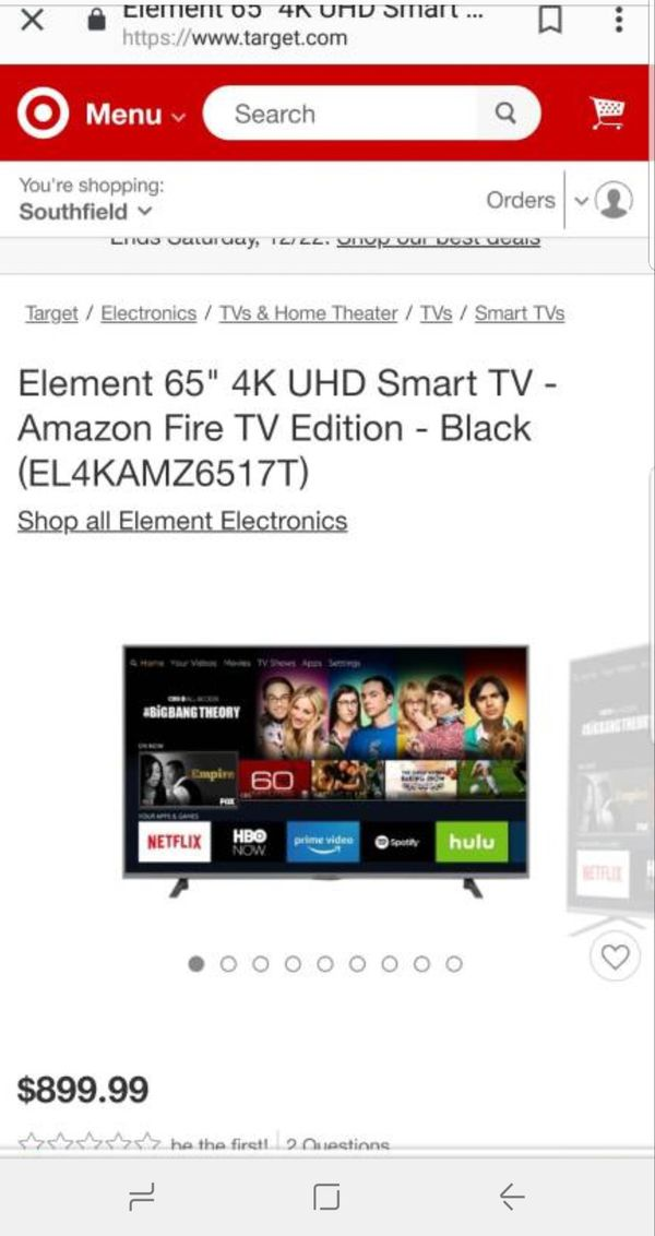 element 65-inch fire tv edition
