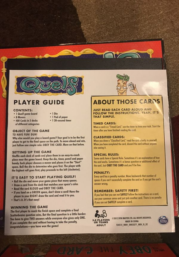 Quelf Board Game For Sale In Belmont Nc Offerup