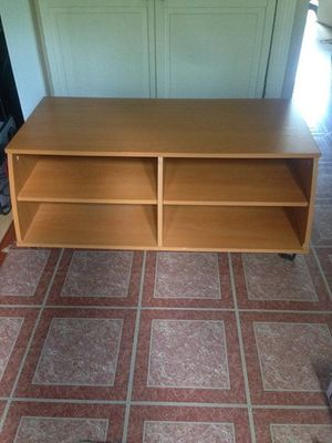 Brown IKEA tv stand with casters for Sale in Derwood, MD