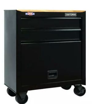 Photo CRAFTSMAN 1000 Series 26.5-in W x 32.5-in H 4-Drawer Steel Rolling Tool Cabinet (Black)