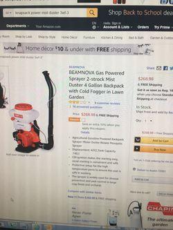 Duster backpack sprayer. Farm. Thumbnail